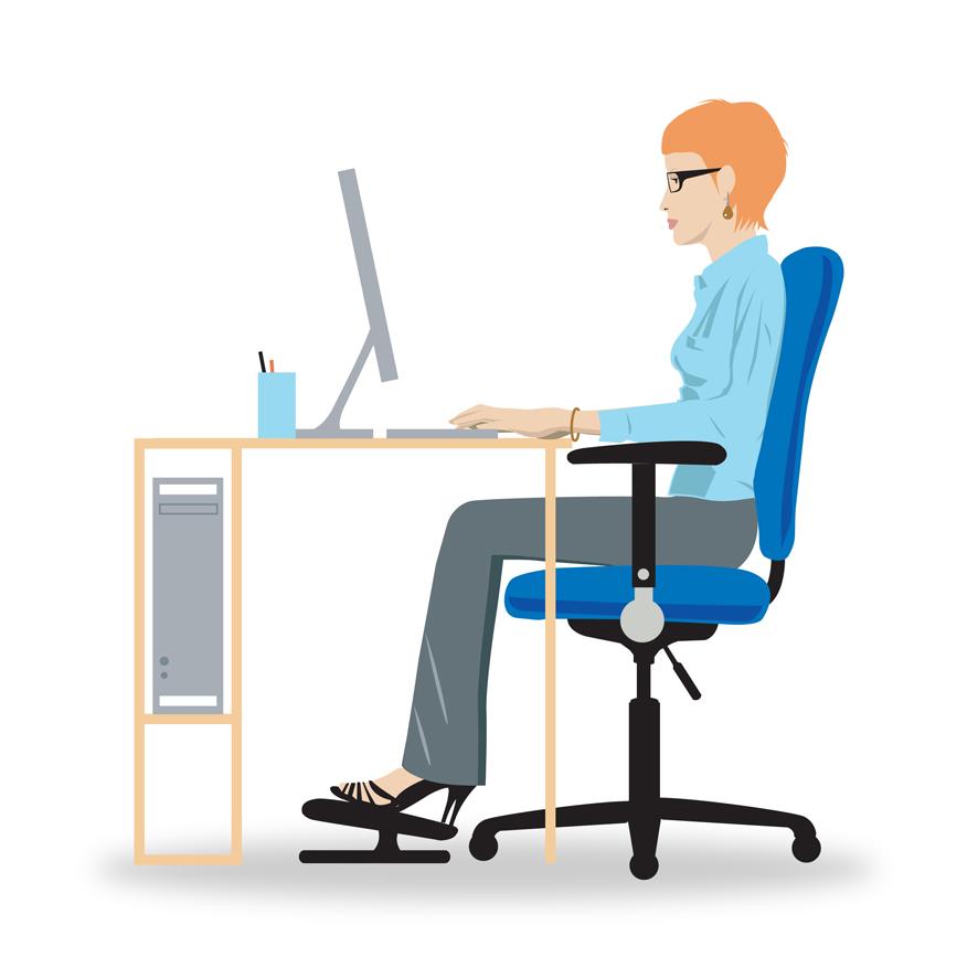 Vision Posture bonne posture devant l'écran