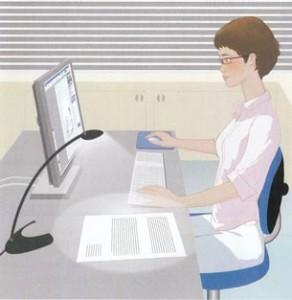 confort de vision et de posture au travail